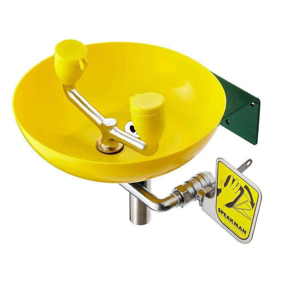 Speakman SE-580 Wall-Mounted Emergency Eyewash (Yellow)