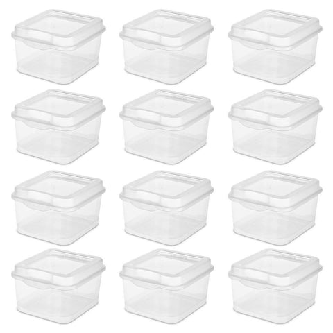 Sterilite Flip Top, Clear, 12-Pack - Wholesale Home Improvement Products