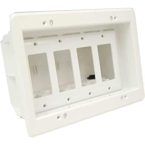 Arlington Industries DVFR4W Wall Plate, 4-Gang, White - Wholesale Home Improvement Products