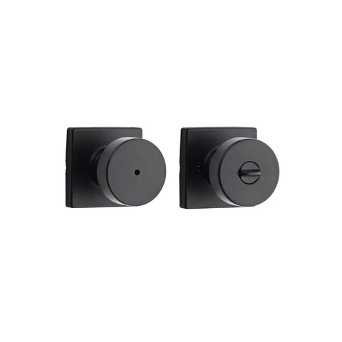 Kwikset Pismo Privacy Door Knob Set with Square Rose - Wholesale Home Improvement Products