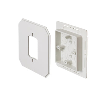 Arlington Siding Box Kit For Fixtures and Receptacles, Cover with Flanges, 1-Pack, 8081F White - Wholesale Home Improvement Products