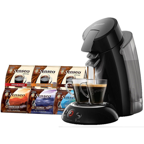 Senseo Coffee Maker XL - Model 2018 Bundle including Senseo Coffee Variety Pack Sampler -6-flavor (Pack of 6) - Wholesale Home Improvement Products