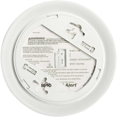 BRK First Alert 9120B Hardwired Smoke Alarm, Dual Ionization - Wholesale Home Improvement Products