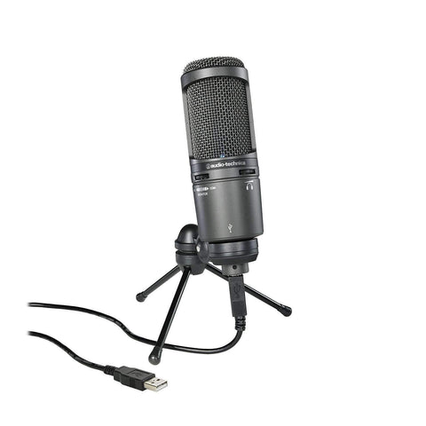 Audio-Technica AT2020USB+ Cardioid Condenser USB Microphone, Black - Wholesale Home Improvement Products