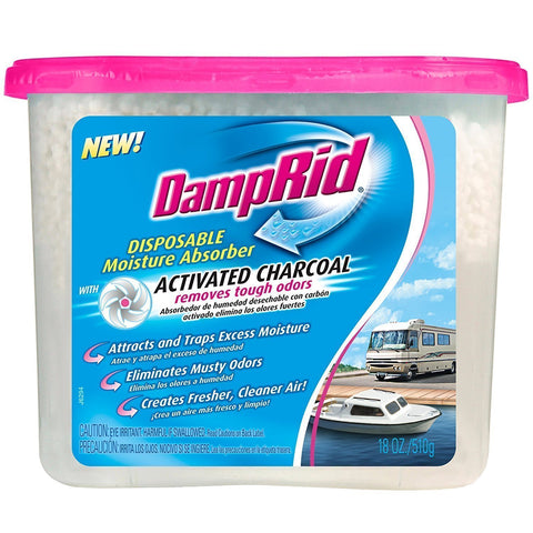 DampRid FG118RV Moisture Absorber, Charcoal RV, 18-Ounce (3) - Wholesale Home Improvement Products