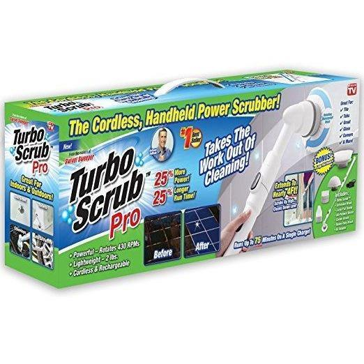 Turbo Scrub PRO - 360 Cordless Rechargeable Floor Scrubber and Tile Cleaning Machine - Wholesale Home Improvement Products