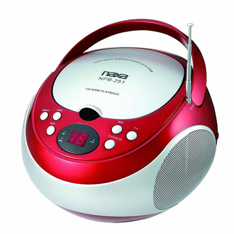 NAXA Electronics NPB-251RD Portable CD Player with AM/FM Stereo Radio - Wholesale Home Improvement Products