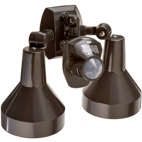 RAB Lighting - STL360H Sensor with Twin Precision Die Cast H101 Deluxe Shielded Bell Floods - 360 Degrees View Detection - Wholesale Home Improvement Products