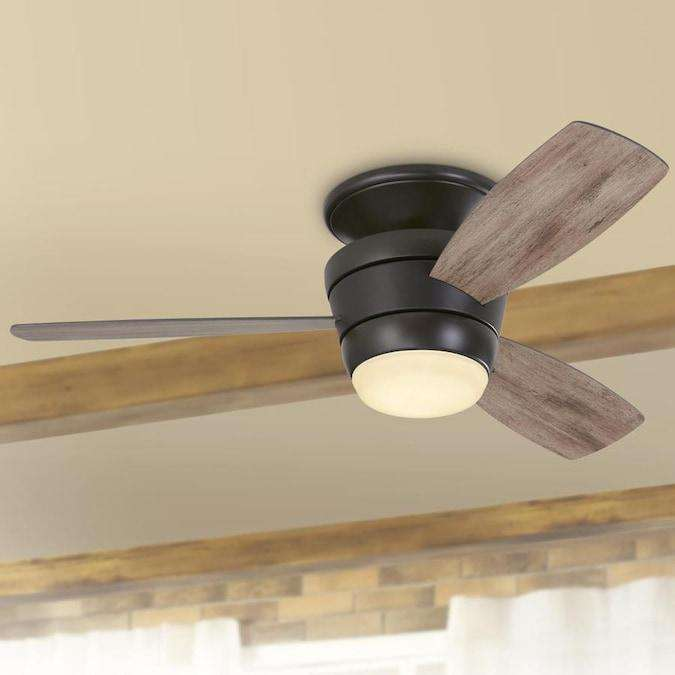 Harbor Breeze Mazon 44 In Oil Rubbed Bronze Led Indoor Flush Mount Cei Wholesale Home