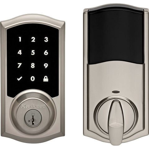 Kwikset 99190-001 Premis Apple HomeKit Touchscreen Smart Lock in Satin Nickel - Wholesale Home Improvement Products