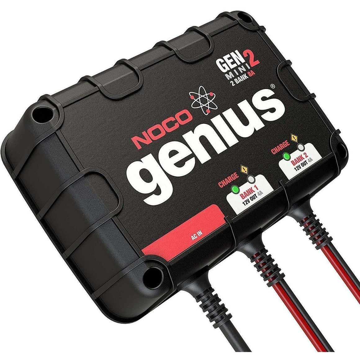 NOCO Genius GENM2 8 Amp 2-Bank Waterproof Smart On-Board Battery Charger