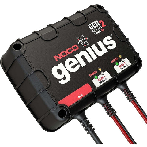 NOCO Genius GENM2 8 Amp 2-Bank Waterproof Smart On-Board Battery Charger - Wholesale Home Improvement Products