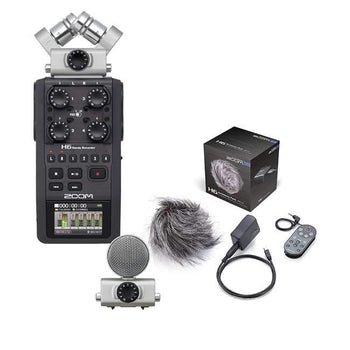 Zoom H6 Six-Track Portable Recorder with Zoom APH-6 Accessory Pack for H6