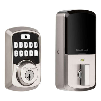 Kwikset 99420 Aura Bluetooth Programmable Keypad Door Lock Deadbolt Featuring Smart-key Security