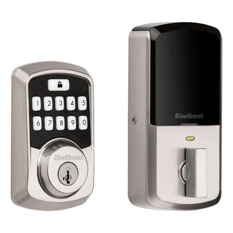 Kwikset 99420 Aura Bluetooth Programmable Keypad Door Lock Deadbolt Featuring Smart-key Security - Wholesale Home Improvement Products