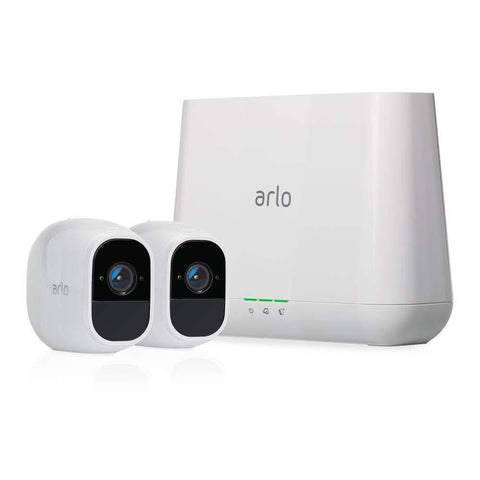 Arlo - Pro 2-Camera Indoor/Outdoor Wireless 10800p Security Camera System - White - Wholesale Home Improvement Products