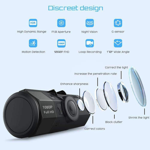 Crosstour Dash Cam 1080P FHD DVR 170° Wide Angle WDR CR700 - Wholesale Home Improvement Products