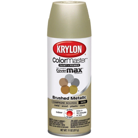 Krylon ColorMaster Brushed Metallic Champagne Nouveau, 11 oz, K05125302 - Wholesale Home Improvement Products
