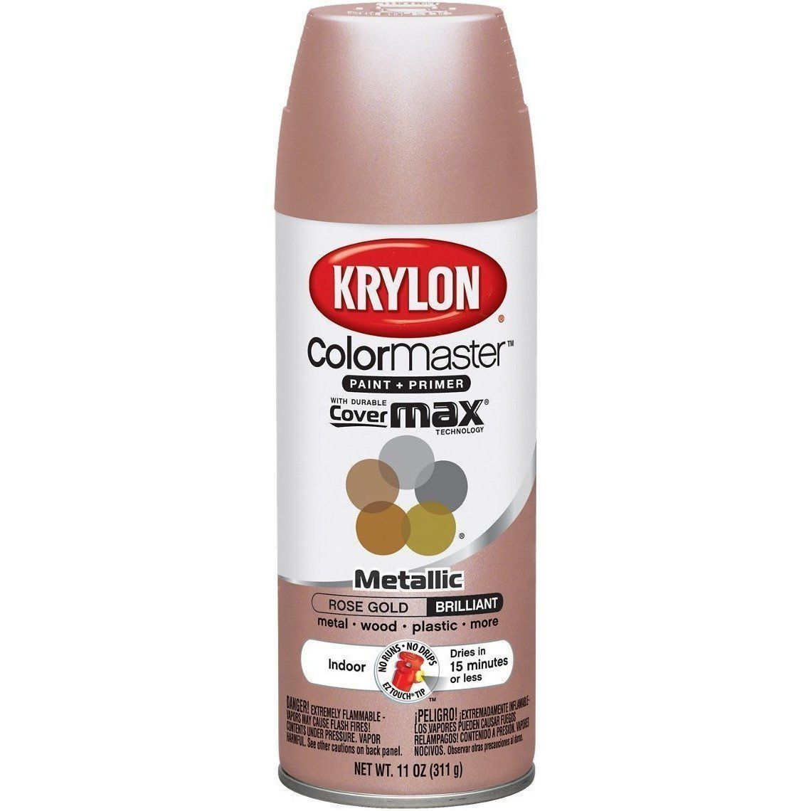 Krylon ColorMaster Metallic Rose Gold , 11 oz, K05358802