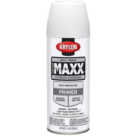 Krylon COVERMAXX Spray Paint, White Primer, 12oz K09188007 - Wholesale Home Improvement Products