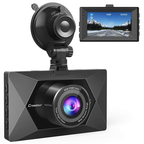 Crosstour Dash Cam 1080P FHD Mini in Car Dashboard Camera CR350 - Wholesale Home Improvement Products