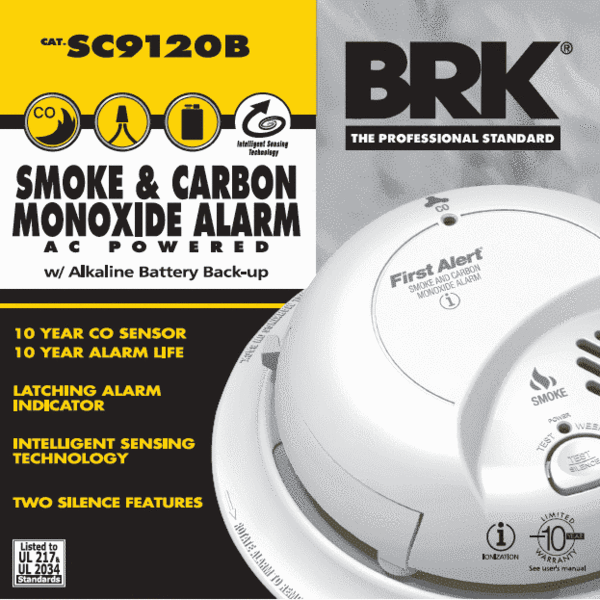 Brk First Alert Sc9120b Battery Operated Smoke Detectors