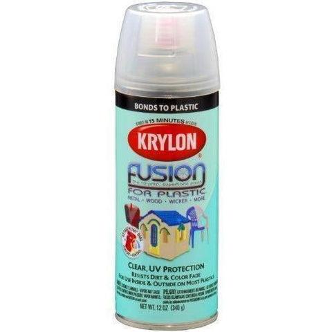 Krylon® Fusion For Plastic® Gloss Clear Spray Paint, 12oz K02444007 - Wholesale Home Improvement Products