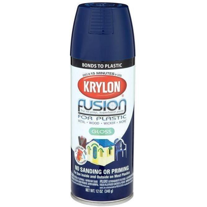 Krylon® Fusion For Plastic® Gloss Navy Spray Paint, 12oz K02326007