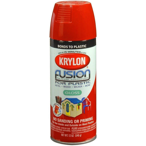 Krylon® Fusion For Plastic® Gloss Red Pepper Spray Paint, 12oz K02328007 - Wholesale Home Improvement Products