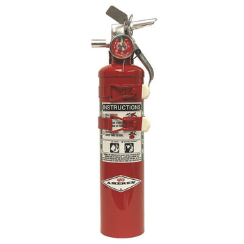 Amerex - C352TS, 2.5lb B C Class Halon 1211 Fire Extinguisher - with Aircraft Bracket