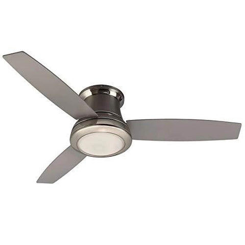 Harbor Breeze Sail Stream 52-in Brushed Nickel LED Indoor Flush mount Ceiling Fan with Light and Remote Control Included (3-Blade) - Wholesale Home Improvement Products