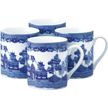 Blue Willow Mug Set, 10oz - Wholesale Home Improvement Products