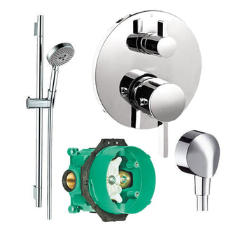 Chrome Hansgrohe K04230 01850cr 2 S Thermostatic Trim With Volume Control With Rough In Bathtub Shower Systems Tools Home Improvement