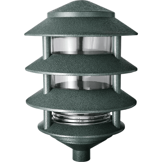 RAB Lighting LL22VG Incandescent 4 Tier Lawn Light, A-19 Type, 100W Power, 1650 Lumens, 120VAC, Verde Green - Wholesale Home Improvement Products