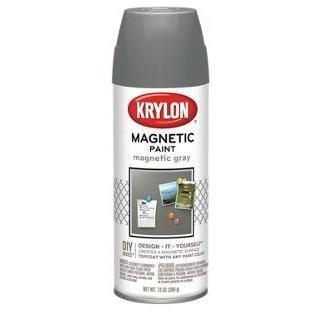 Krylon Magnetic Paint, Gray, 13 ounce
