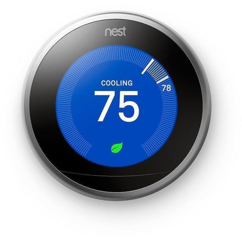Nest Thermostat: 3rd Generation 'Learning' Thermostat - Stainless Steel - Wholesale Home Improvement Products