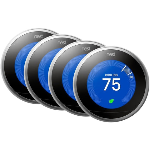 Nest Thermostat: 3rd Generation 'Learning' Thermostat - Stainless Steel (Pro Model) - Wholesale Home Improvement Products