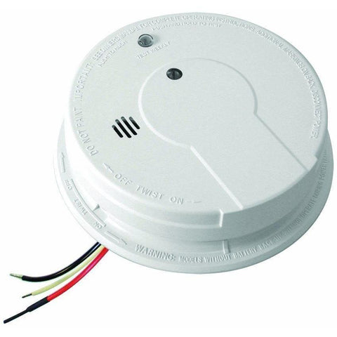 Kidde - P12040 AC Hardwired Interconnect Photoelectric Smoke Alarm with Hush