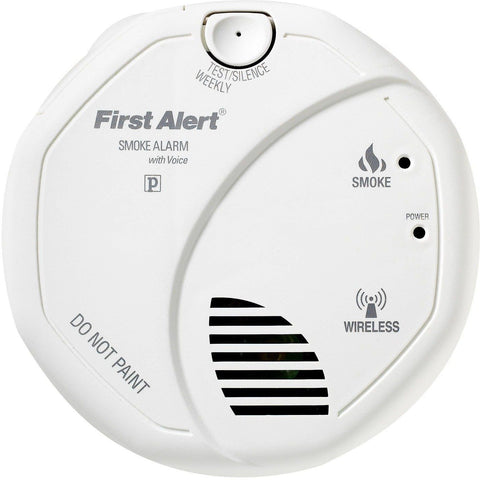 BRK First Alert - SA511B Wireless Interconnect Battery Smoke Alarm w/ Voice - Wholesale Home Improvement Products
