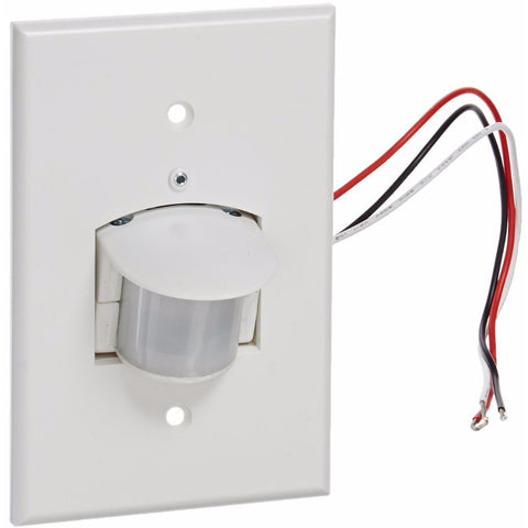 RAB Lighting - SB500W Smart Box with Wall Plate - 500W Power - 120V AC, 60 Hz, 180 Degrees View - White - Wholesale Home Improvement Products