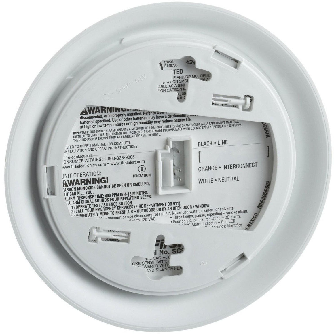 BRK First Alert - SC9120B Hardwired Smoke & Carbon Monoxide Alarm