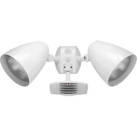 RAB Lighting - STL200HBW with Twin Precision Die Cast HB101 Bullet Floods - Aluminum - 1000W - 120V -White - Wholesale Home Improvement Products
