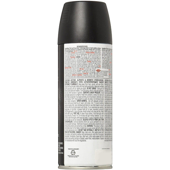 Krylon SUPERMAXX All-In-One Spray Paint, Satin Black, 12oz K08974007 - Wholesale Home Improvement Products