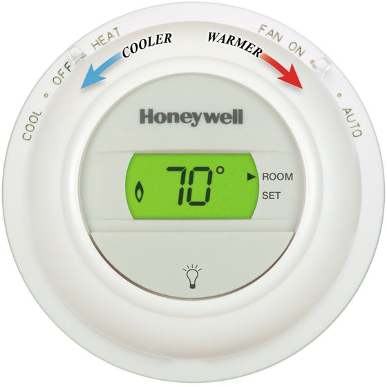 Honeywell - T8775C1005 Digital Round Non-Programmable Thermostat - Wholesale Home Improvement Products