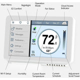 Vine - Smart Wi-Fi Thermostat TJ-919 - 7-Day Programming with Touchscreen and Backlight