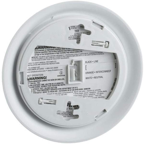 BRK First Alert - SC9120B Smoke & Carbon Monoxide Alarm, Hardwired, 9V Battery - Wholesale Home Improvement Products