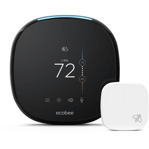 Ecobee - Ecobee4 Wi-Fi Thermostat with Sensor - Voice Enabled