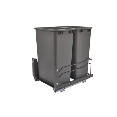 Rev-A-Shelf 53WC-2150SCDM-213 / Double 50 Qrt Pull-out Waste Container Soft-Close