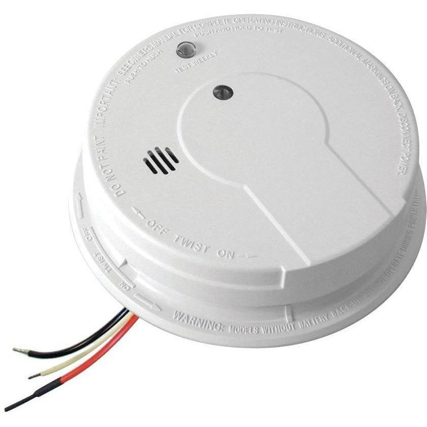 Kidde - i12040 Hardwired Interconnect Smoke Alarm with Hush