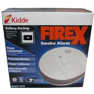 Kidde - i4618 Ionization Smoke Alarm, Hardwired with 9V Battery Backup (21007581) - Wholesale Home Improvement Products